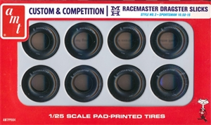 "Custom and Competition ""Small Slicks"" Racemaster Dragster Slicks (1/25) (fs)"