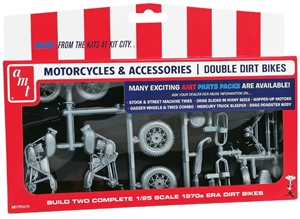 Motorcycle Parts Pack Double Dirt Bikes (1/25) (fs)