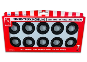"Big Rig Semi Tractor ""Tall Tires"" 11.00-22 Parts Pack (1/25) (fs) <br><span style=""color: rgb(255, 0, 0);"">Just Arrived</span>"