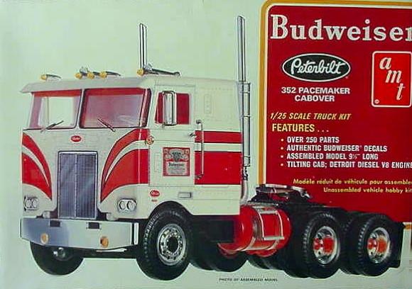 Budweiser Peterbilt 352 Pacemaker Cabover (1/25) (fs)