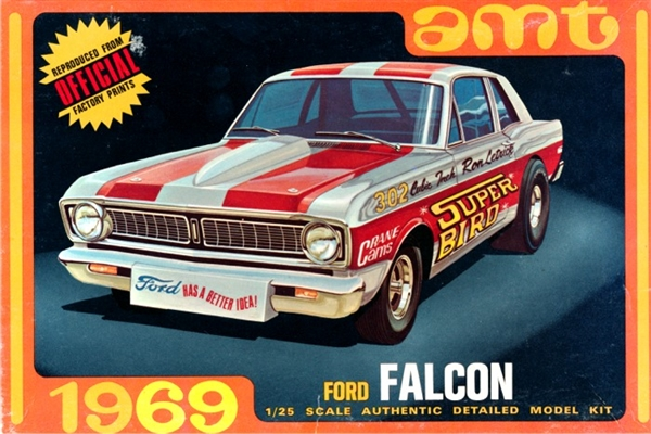 1969 Ford Falcon Sports Coupe (3 'n 1) Stock, Custom or Drag (1/25)