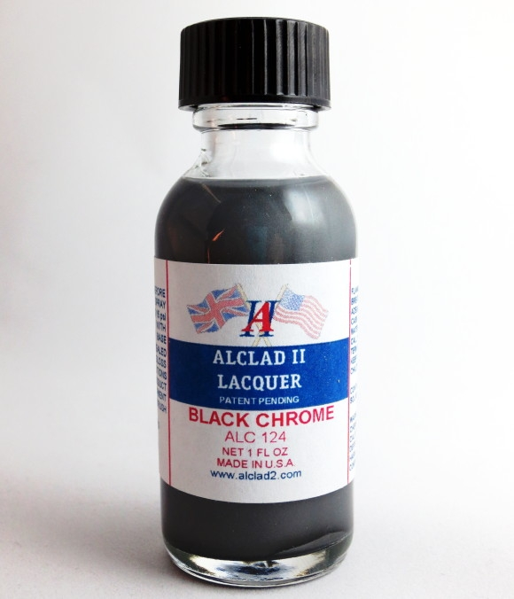 alclad ii black chrome lacquer for plastic 1 oz bottle. Black Bedroom Furniture Sets. Home Design Ideas