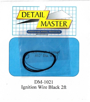 "Detail Master Black Ignition Wire (.012"") 2 ft for 1/24 & 1/25"