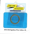 "Detail Master Yellow Ignition Wire (.012"") 2 ft for 1/24 & 1/25"