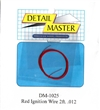 "Detail Master Red Ignition Wire (.012"") 2 ft for 1/24 & 1/25"