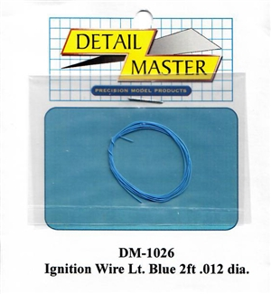 "Detail Master Light Blue Ignition Wire (.012"") 2 ft for 1/24 & 1/25"