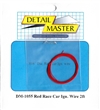 "Detail Master Red Race Car Ignition Wire (.016"") 2 ft for 1/24 & 1/25"