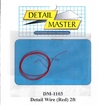 "Detail Master Red Detail Wire (.0075"") 2 ft for 1/24 & 1/25"