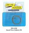 "Detail Master Yellow Detail Wire (.0075"") 2 ft for 1/24 & 1/25"