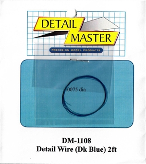"Detail Master Dark Blue Detail Wire (.0075"") 2 ft for 1/24 & 1/25"