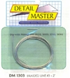 "Detail Master Braided Line #3  2 ft (.035"") for 1/24 & 1/25"