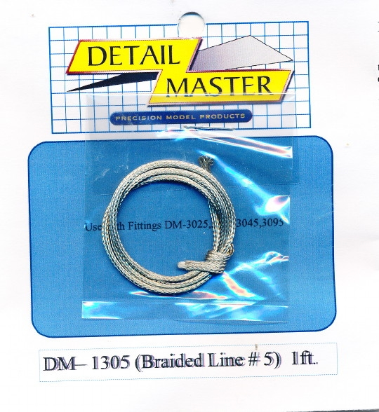 detail master braided line  5 1 ft   060 u0026quot   for 1  24  u0026 1  25
