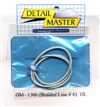 "Detail Master Braided Line #6 1 ft (.080"") for 1/24 & 1/25"