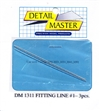 "Detail Master Fitting Line #1 (Use with DM-1301) (.020"")  3 3"" pieces for 1/24 & 1/25"