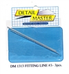 "Detail Master Fitting Line #3 (Use with DM-1303) (.035"")  3 3"" pieces for 1/24 & 1/25"