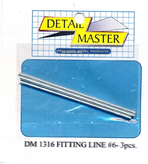 "Detail Master Fitting Line #6 (Use with DM-1306) (.080"")  3 3"" pieces for 1/24 & 1/25"