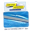 "Detail Master Fitting Line #7 (Use with DM-1307) (.100"")  3 3"" pieces for 1/24 & 1/25"