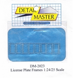 Detail Master Standard Photo-Etch License Plate Frames (1:25-1:24)