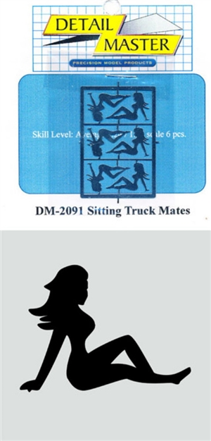 "Truckmates - Reclining Lady ""Leaning Back"" Truck Mud Flap Icon Photo Etch (1/25)"
