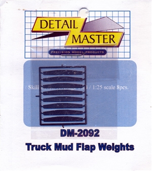 Detail Master Truck Mud Flap Weight (8 pcs) for 1/24 & 1/25