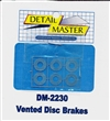 Vented Disc Brakes - Solid for 1/24 & 1/25 kits (Set of 2)