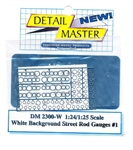 Street Rod Gauges #1 White Background for 1/24 & 1/25