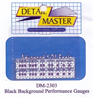 Perfomance Gauges (Black Background) for 1/24 & 1/25