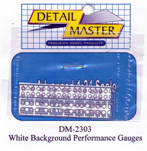 Perfomance Gauges (White Background) for 1/24 & 1/25