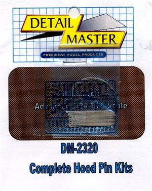 Detail Master Hood Pin Kit (25pc) for 1/24 & 1/25