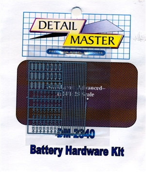 Detail Master Battery Hardware Kit for 1/24 & 1/25