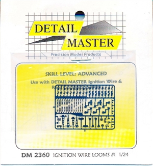 Detail Master Photo Etch Ignition Wire Looms for 1/24 & 1/25