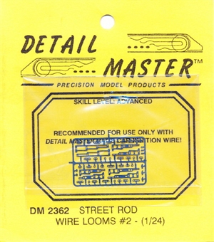 Detail Master Photo Etch Street Rod Wire Looms #2 for 1/24 & 1/25