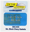 Detail Master Small Block Chevy Gaskets for 1/24 & 1/25