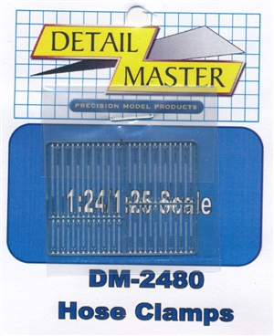 Detail Master Hose Clamps for 1/24 & 1/25