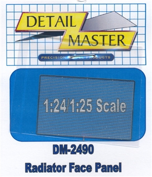 Detail Master Radiator Face Panel for 1/24 & 1/25