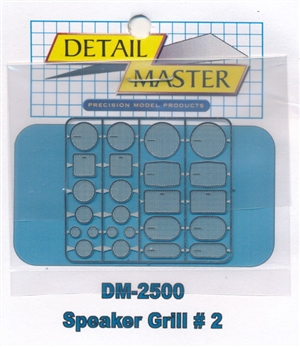 Detail Master Speaker Grilles #2 for 1/24 & 1/25