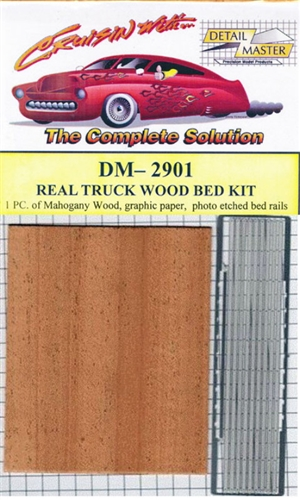 "Real Truck Wood Bed Kit ""Mahogany""  (1/24 & 1/25)"