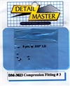 "Detail Master Compression Fitting #3 (8 pcs) (.037 "") for 1/24 & 1/25"