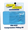 "Detail Master Compression Fitting #5 (8 pcs) (.067 "") for 1/24 & 1/25 & 1/16"