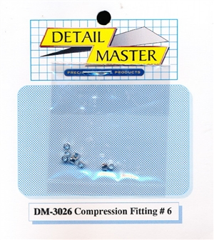 "Detail Master Compression Fitting #6 (8 pcs) (.080 "") for 1/24 & 1/25 & 1/16"