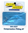 "Detail Master Compression Fitting #7 (8 pcs) (.100 "") for 1/24 & 1/25 & 1/16"