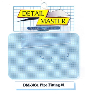 "Detail Master Pipe Fitting #1 (8pcs) (.022 "") for 1/24 & 1/25"