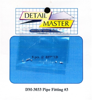"Detail Master Pipe Fitting #3 (8 pcs) (.037 "") for 1/24 & 1/25"