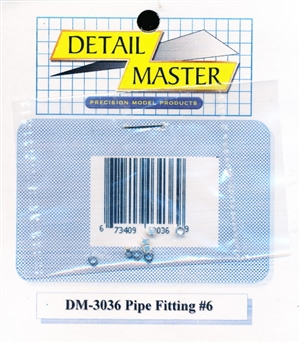 "Detail Master Pipe Fitting #6 (8 pcs) (.082 "") for 1/24 & 1/25 & 1/16"