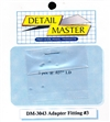 "Detail Master Adapter Fitting #3 (8 pcs) (.037 "") for 1/24 & 1/25"