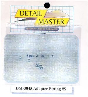 "Detail Master Adapter Fitting #5 (8 pcs) (.067 "") for 1/24 & 1/25 & 1/16"