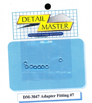 "Detail Master Adapter Fitting #7 (8 pcs) (.102 "") for 1/24 & 1/25 & 1/16"