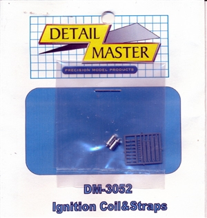 Detail Master Ignition Coil and Straps for 1/24 & 1/25