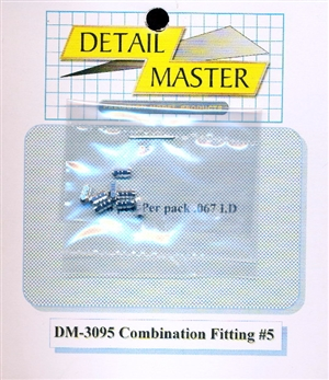 "Detail Master Combination Fitting #5 (8pcs) (.067 "") for 1/24 & 1/25"