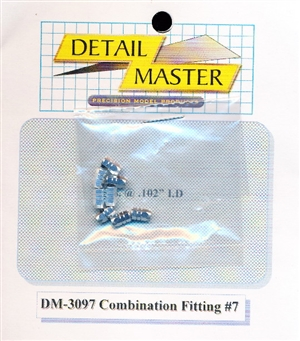 "Detail Master Combination Fitting #7 (8pcs) (.102 "") for 1/24 & 1/25"